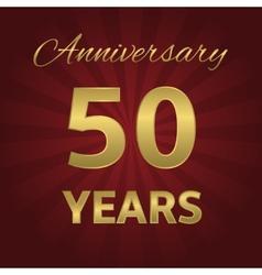 50 years anniversary vector