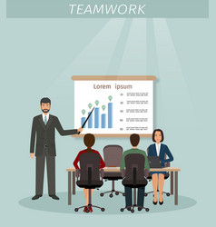 business situation with men and women employee vector image vector image