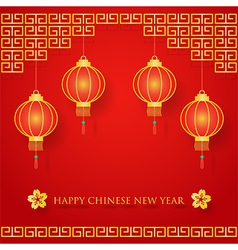 Chinese new year decoration vector image