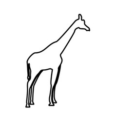 giraffe it is black icon vector image vector image