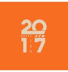 Logo 2017 Happy New Year monogram lines text fire vector image vector image