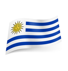 national flag of uruguay white and blue vector image vector image
