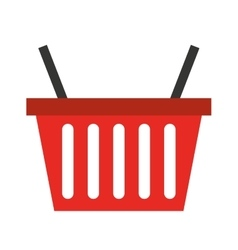 shopping basket isolated icon design vector image