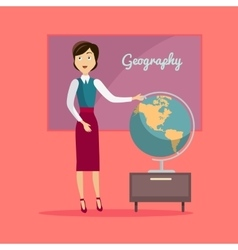 Subject of Geography Education Conceptual Banner vector image vector image