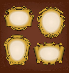 Vintage frames cartouches ribbons vector image vector image