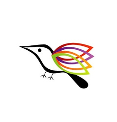 A bird with colorful wings vector image