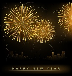 Fireworks and Cityscape vector image