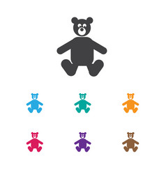 Of child symbol on bear toys vector
