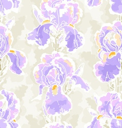 seamless pattern with iris vector image vector image