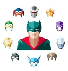 Superhero character flat design vector image