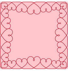 template greeting card valentine hearts vector image vector image