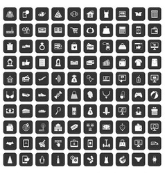 100 online shopping icons set black vector