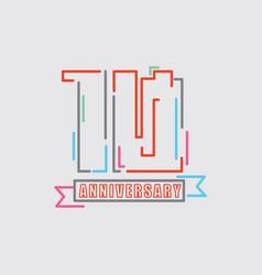 10th years anniversary logo birthday celebration vector