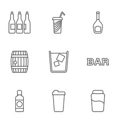 9 beer icons vector image
