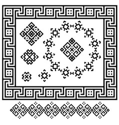A set of black and white geometric designs signs vector