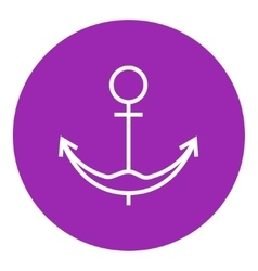 Anchor line icon vector image