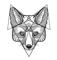 Animal fox head print for adult anti stress vector