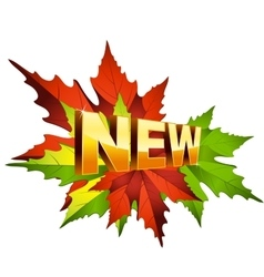 Autumn newv vector image