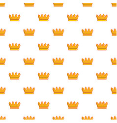 baron crown pattern seamless vector image