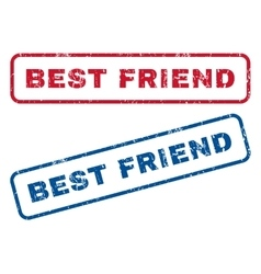 Best Friend Rubber Stamps vector