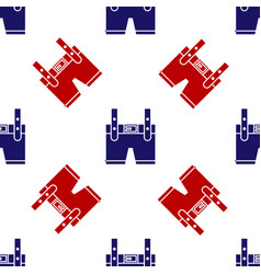 Blue and red lederhosen icon isolated seamless vector