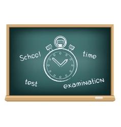 Board school stopwatch vector