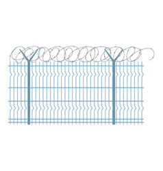 Border metal fence icon flat style vector