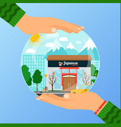 business concept for opening japanese restaurant vector image