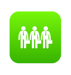 business icon digital green vector image
