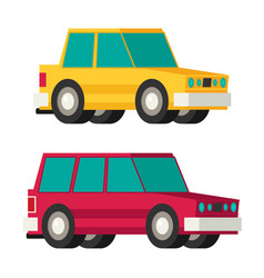 car flat vector image
