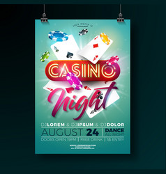 casino night flyer with vector image