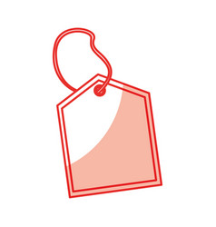 Commercial tag hanging icon vector