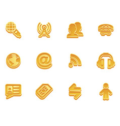 Communication icon set vector