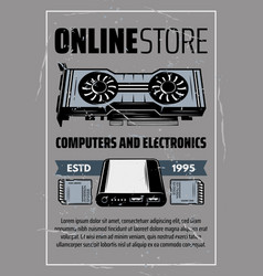 Computer hardware and electronic devices vector