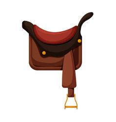 cowboy saddle iconcartoon icon vector image