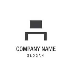 creative furniture logo design vector image