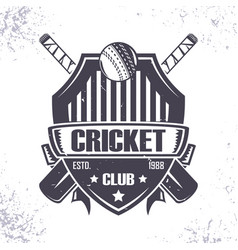 cricket club badge vector image