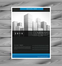 Dark company brochure style template in modern vector