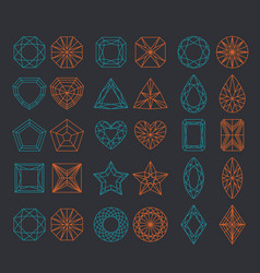 Diamond shapes set vector