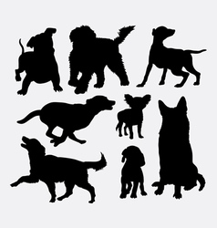 Dog action silhouettes vector image