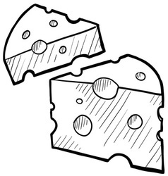 Doodle cheese vector