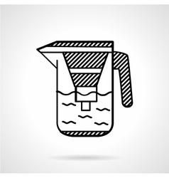 Filter jug flat line icon vector image