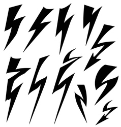Flat sign of lightning vector image
