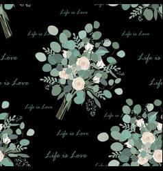 flower bouquet seamless pattern endless vector image