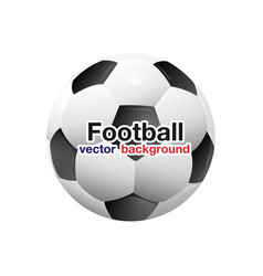 Football soccer ball planet space background vector