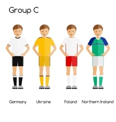 Football team players Group C - Germany Ukraine vector image