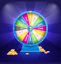 fortune wheel and money poster vector image