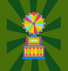 fortune wheel game machine roulette icon vector image