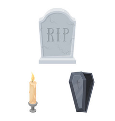 funeral ceremony cartoon icons in set collection vector image