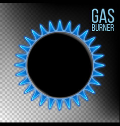 gas burner burner plate isolated on vector image